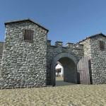 Batina - Glavna vrata - Porta praetoria (MSO, DD3D)