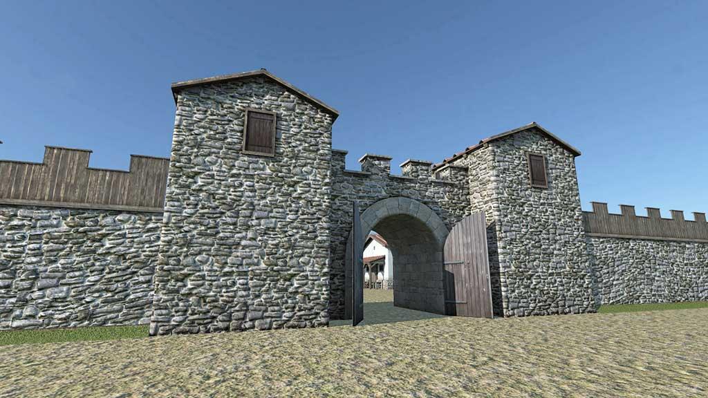 Batina - Glavna vrata - Porta-praetoria (MSO, DD3D)