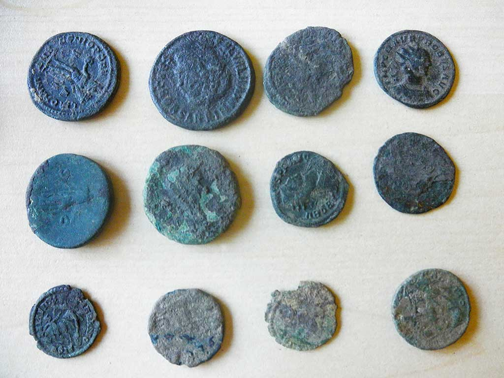 Kneževi vinogradi - Coins found by fieldwalk (Vukmanić 2013)