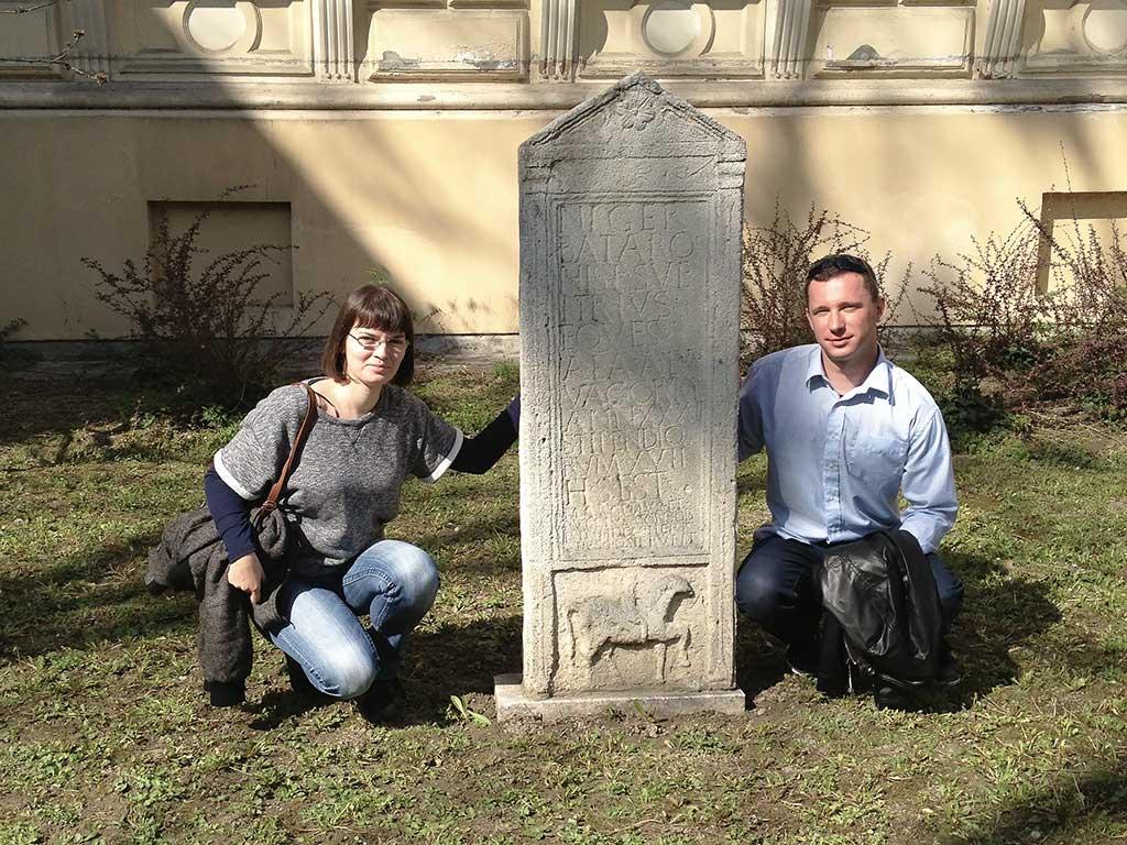 Osijek - Roman funerary monument built for Niger Sveitrius (Jurić 2013)