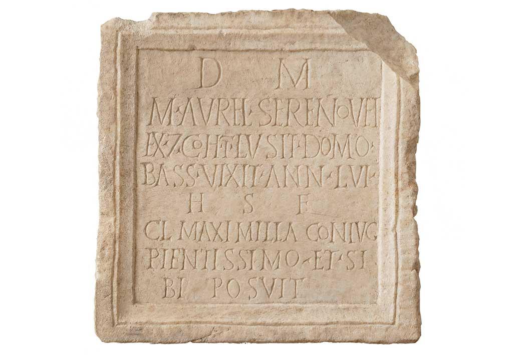 Ilok - The plate of the Marcus Aurelius Serenus, veteran cohors I Lusitanorum (Muzej grada Iloka 2010)